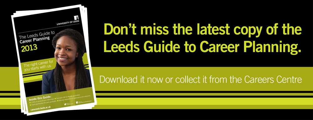 Leeds Guide to Career Planning (links to an external site)